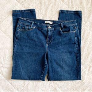 J JILL / Weekender straight leg jeans / size 14